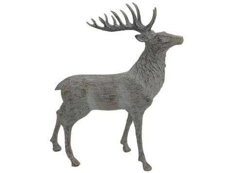 antler stag in wood finish | wooden stag ornament